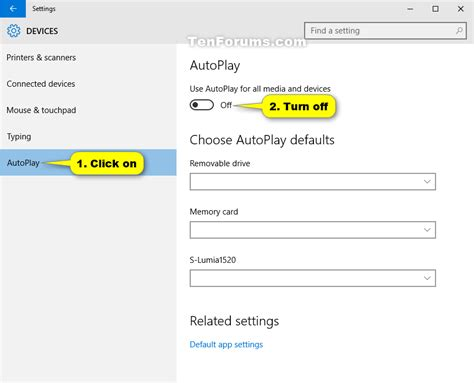 Turn On or Off AutoPlay in Windows 10   Tutorials